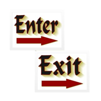 Enter Exit Sign Set