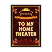 Home Theater Welcome Sign