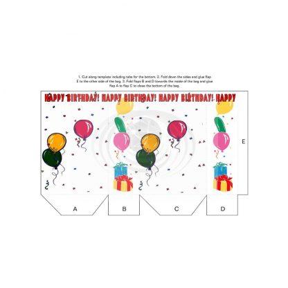 Birthday Balloons Gift Bag Template
