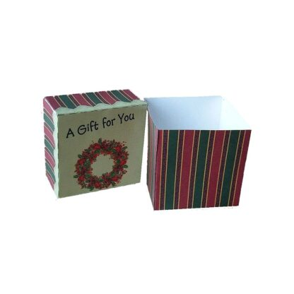 Christmas Wreath Open Gift Box