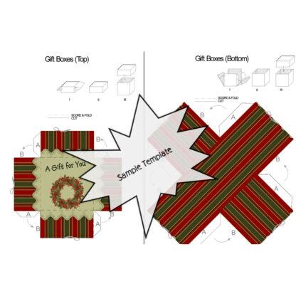 Christmas Wreath Sample Gift Box Template