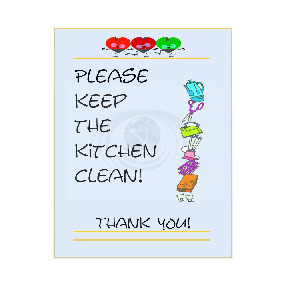 Please Keep the Kitchen Clean Sign