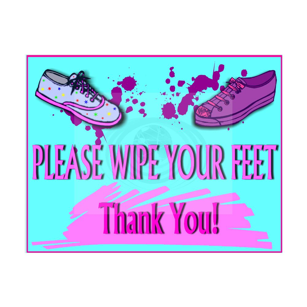Please Wipe Feet Sign