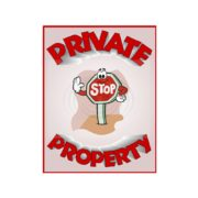 Private Property Stop Sign