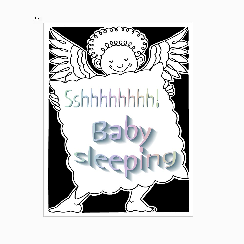 Angel Baby Sleeping Sign
