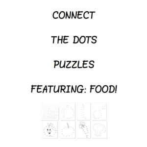 Food Puzzles Connect the Dots e-Book