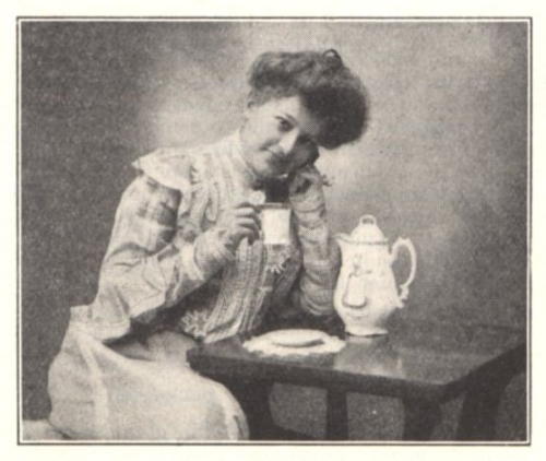 Lady Drinking Soluble Cocoa