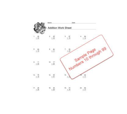 Basic Addition Worksheets Sample 2