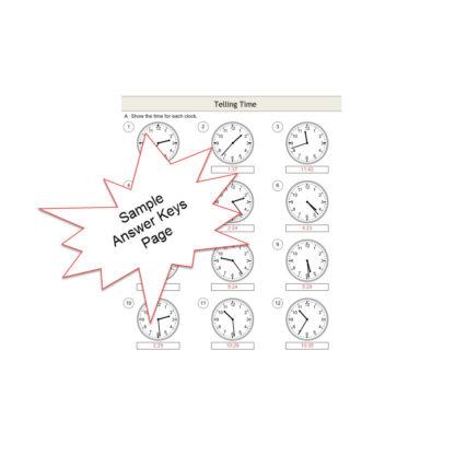 Telling Time Exercises Sample Answer Keys