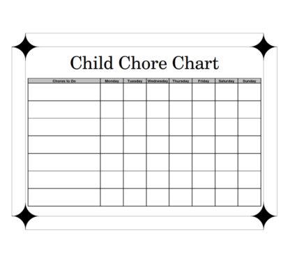 Child Chore Chart