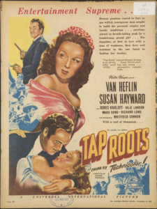 1948 ad for the film Tap Roots