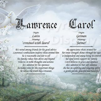 Wedding Doves First Name Meaning Art
