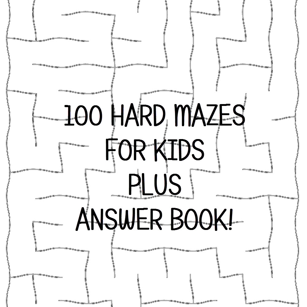 Hard Maze Puzzles Plus Answer Keys