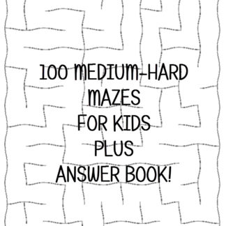 Medium-Hard Maze Puzzles