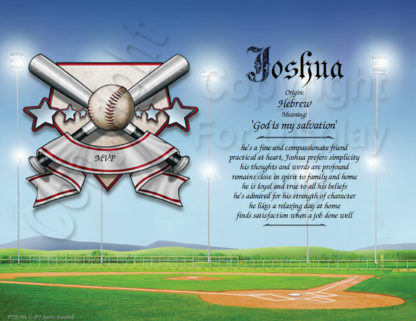 Baseball Player Name Art