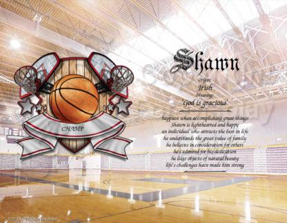 Basketball Player First Name Art