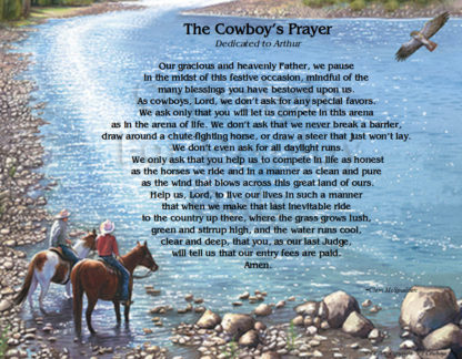 Cowboys Prayer with Dedication