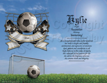 Soccer Player First Name Art