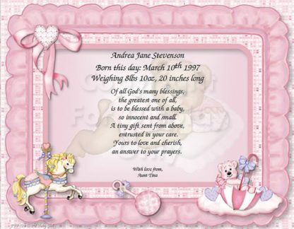 Born This Day Baby Girl Christian Poem