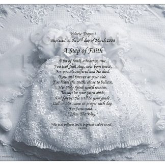 Baptized poem Christening art
