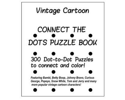 Vintage Cartoon Character Dot-to-Dot Puzzle Book