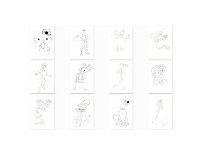 Vintage Cartoon Dot to Dot Sample Puzzles 1