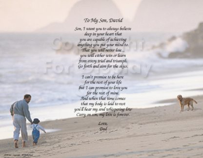 To My Son Personalized Photo Art