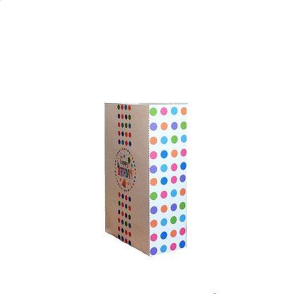 Polka Dot Birthday Gift Bag Side View