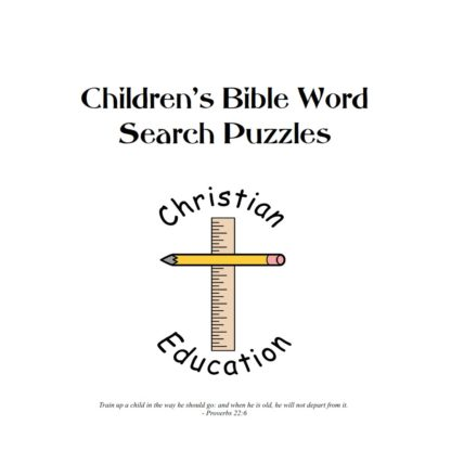 Toddlers Bible Word Search Puzzles Book Cover