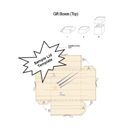 Shooting Star Gift Box Sample Template Lid