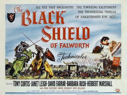 Tony Curtis Black Shield of Falworth Poster