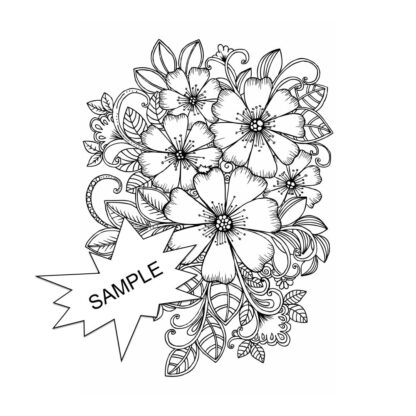 Sample Flower Doodle sheet 1