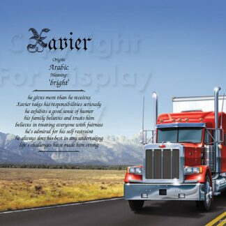 Trucker first name art sample 1