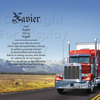 Trucker first name art sample 1
