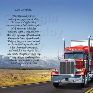 Trucker Prayer Art