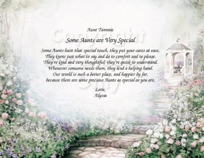 Special Aunt Poem on Gazebo Art Sample 1