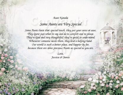 Special Aunt Poem on Gazebo Art Sample 3