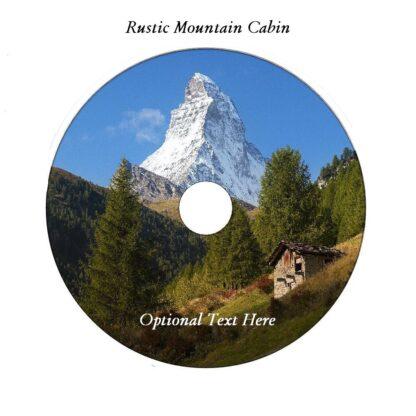 Rustic Mountain Cabin Homestead DVD Art