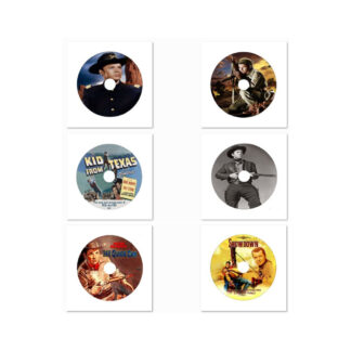 Audie Murphy in the Movies Decorative DVD Art