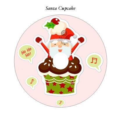 Santa Cupcake DVD Art