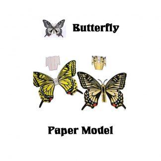 Butterfly 3D Paper Model