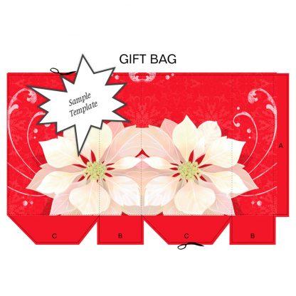 Poinsettia Gift Bag Sample Template
